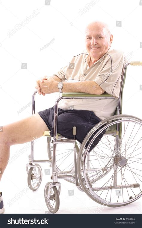 one leg wheelchair handicap wheelchair one leg stock photo 7309765