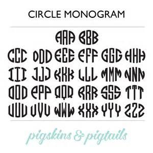 circle monogram decal pigskins amp pigtails