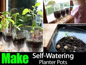 how to make self watering planter pots