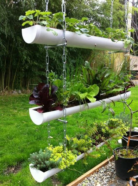 garden ideas on 20 easy diy gutter garden ideas garden decor 1001 gardens