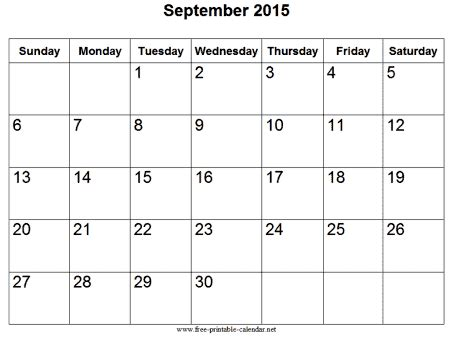 printable month calendar sept 2015 september 2015 calendar
