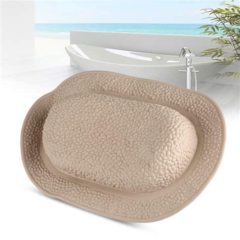 soft bathtub soft tpe bath pillow pad bathtub headrest with foam inner