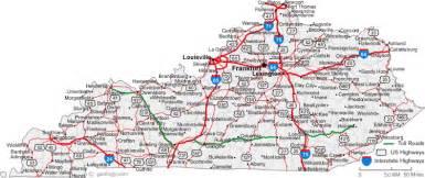 map of kentucky map of kentucky cities kentucky road map