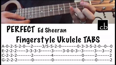 ukulele tutorial ed sheeran perfect ed sheeran fingerstyle ukulele tutorial youtube