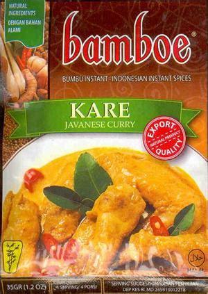 Enak Eco Bumbu Kare 80gr kare javanese curry 1 2 oz by bamboe