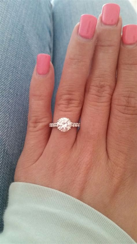 show me your 1 0 1 5 2 0 carat rings on size 4 4 5