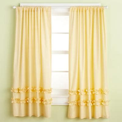 land of nod curtains 84 quot color edge curtain yellow ruffle curtains