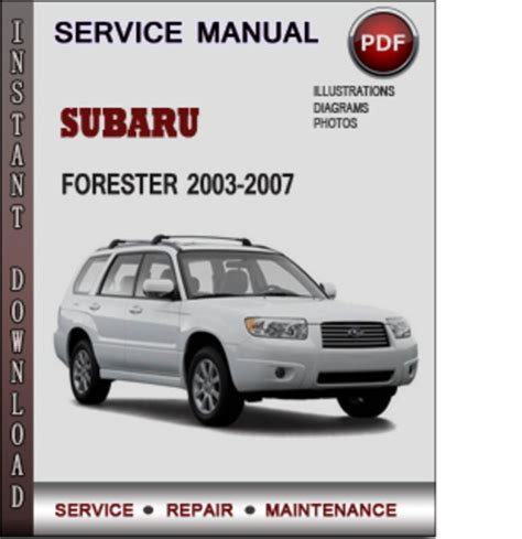 download car manuals 2005 subaru forester electronic toll collection subaru forester 2003 2007 factory service repair manual download pd