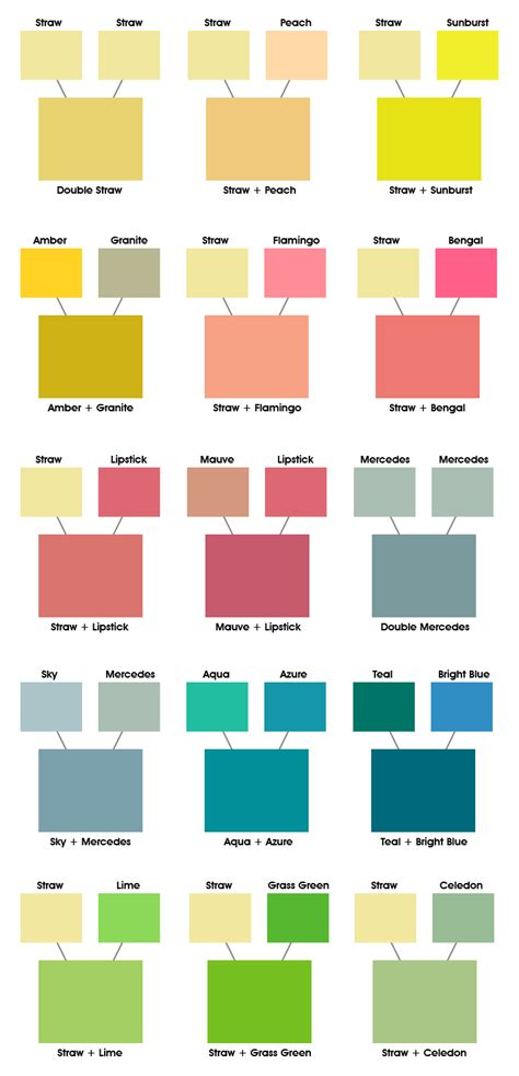 color combos color combinations