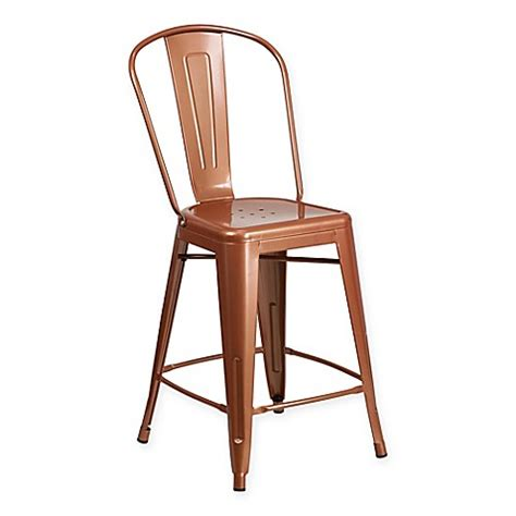 Flash Furniture Metal Stool by Buy Flash Furniture 24 Inch Metal Stool In Copper From Bed