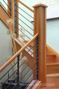 Modern Stair Railing Staircase From Iron And Salvaged Wood Hammer Like A
