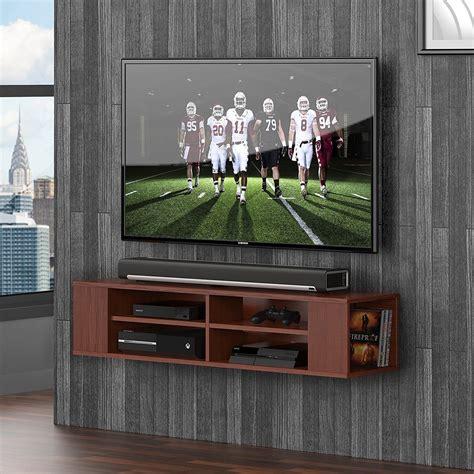 fitueyes single wall mounted single av wall shelf with