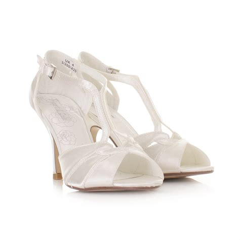 Strappy Ivory Bridal Shoes by Ivory Strappy Sandals With Heel Gold High Heel Sandals