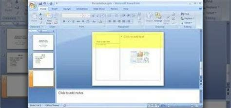 design microsoft powerpoint 2007 how to create a basic presentation quickly in powerpoint