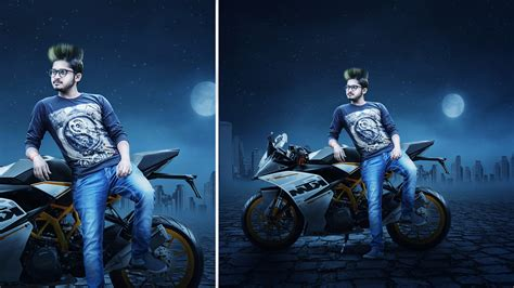 how to add background in photoshop how to create background how to change bike add ktm