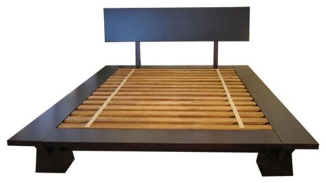 Japanese Platform Bed Frames Takuma Platform Bed Walnut King Asian Beds By Haiku Designs