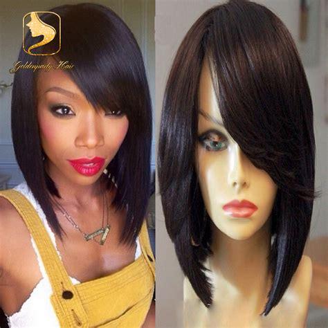 Bando Wig Pendek Lurus top 7a pendek bob cut wig brasil lurus penuh renda rambut manusia wig untuk perempuan kulit