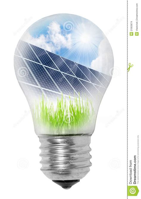 solar panel light bulb l bulb with solar panels stock illustration