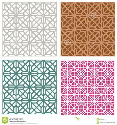 korean pattern vector free seamless line pattern in modern korean style stock vector