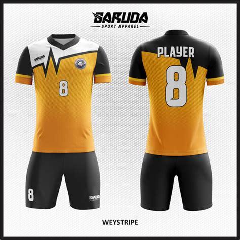 desain baju futsal keren berkerah desain baju bola futsal printing weystripe garuda print