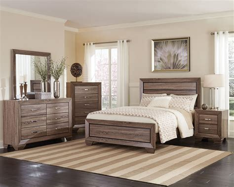 kauffman washed taupe panel bedroom set bedroom sets