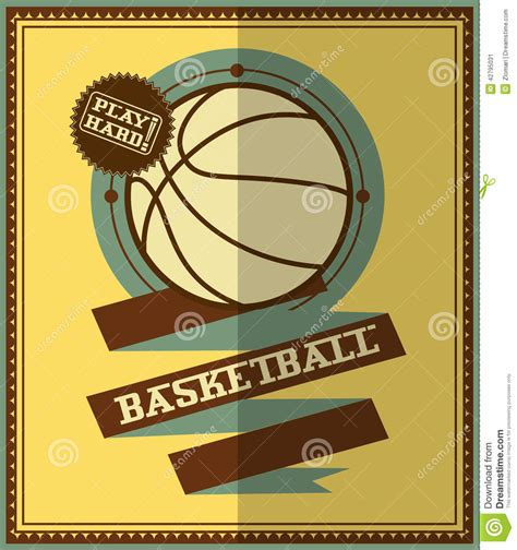 design poster basketball flat design basketball poster stock vector image 42795031
