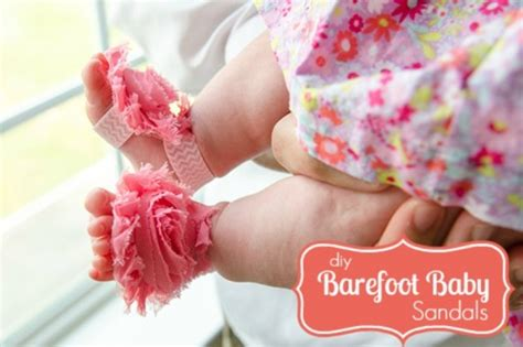diy baby barefoot sandals the cutest diy barefoot sandals for babies kidsomania