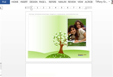 Free Powerpoint Greeting Card Template by Photo Greeting Card Template For Word