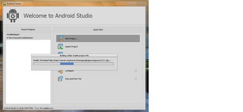 android studio tutorial stackoverflow android studio stuck at gradle download on create new