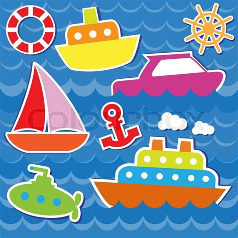 como hacer un bote en whatever floats your boat marine transport stickers stock vector colourbox
