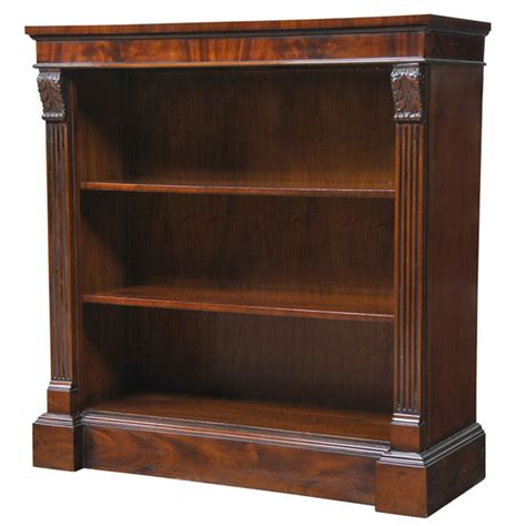 narrow mahogany bookcase nof040
