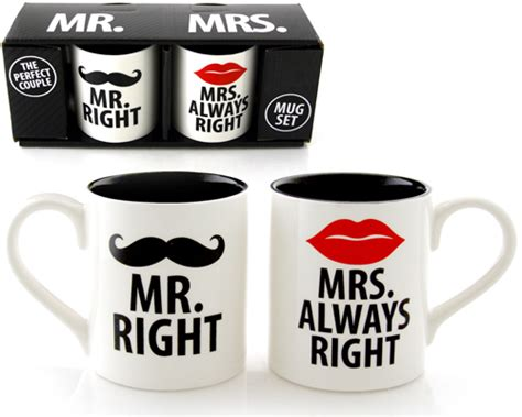 Mr. Right & Mrs. ALWAYS Right Mug Set   HolyCool.net