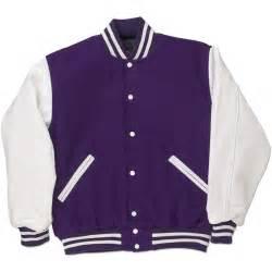 purple white standard letterman jacket standard