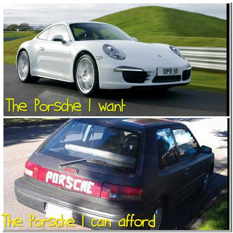 can i afford a porsche the porsche i want vs the porsche i can afford