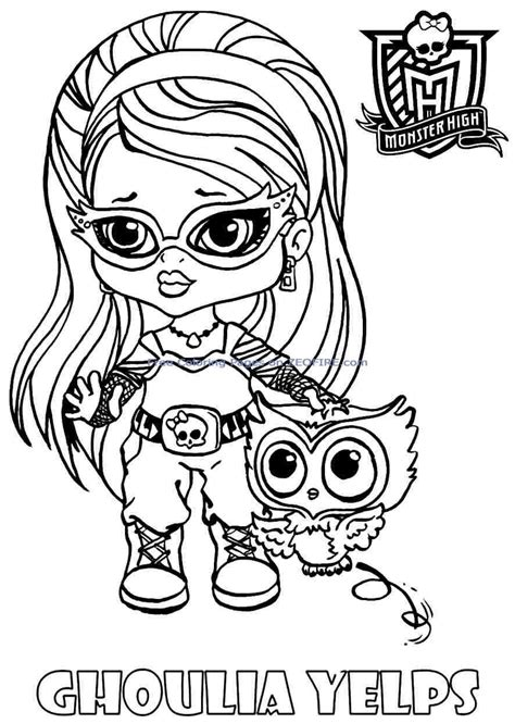free baby monster high coloring pages az coloring pages
