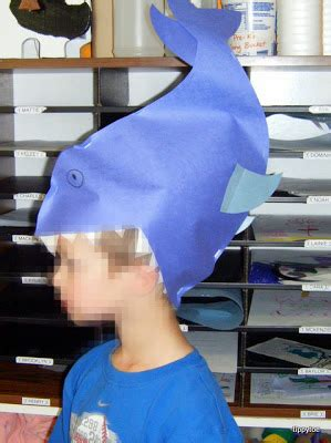 How To Make A Paper Shark Hat - tippytoe crafts shark craft