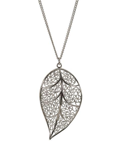 filigree leaf pendant necklace rickis