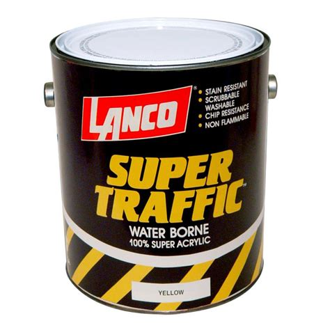 home depot paint yellow lanco traffic 1 gal yellow paint tp805 4 the home