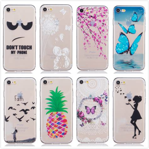 Casing Iphone 5 5s Cover Butterfly for apple iphone 7 soft silicon flowers dancer lovely
