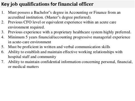 Financial Officer by Financial Officer Description
