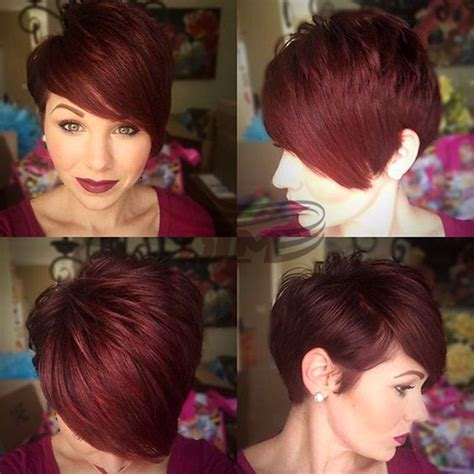 pixie cut hairstyles using bump weave pictures fashion short red piexe haircut style brazilian virgin