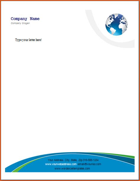 make a letterhead template in word 8 word letterhead template bookletemplate org