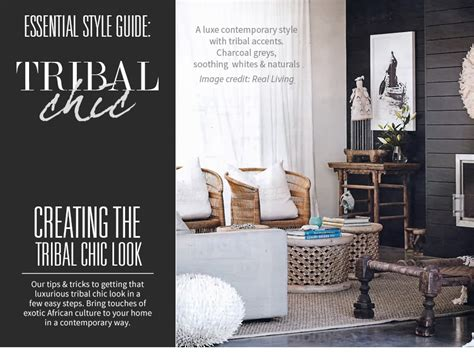 Hamptons Home Decor tribal chic style guide to creating a luxurious tribal