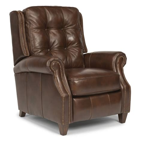 discount leather recliners flexsteel 1254 50p landon leather power high leg recliner discount furniture at hickory park