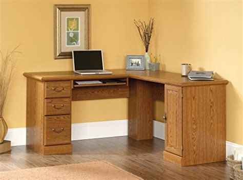 corner computer desk oak finish sauder orchard hills corner computer desk carolina oak