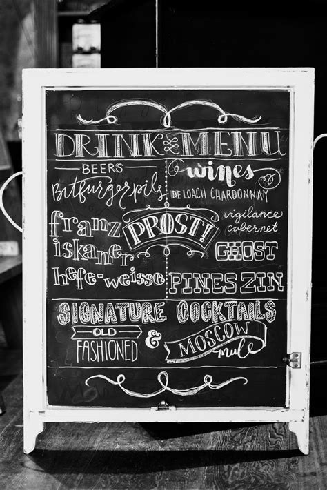 typography signs drink menu handlettering typography sign chalkboard pattisignmaker