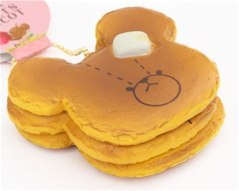 Mainan Squishy Magnit Tipe 4 Bread Brown Teddy With Butter Bread Bun Brown Squishy