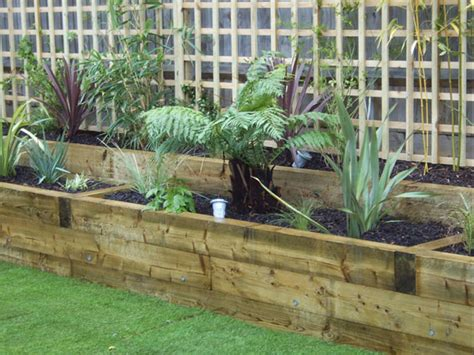 How To Join Railway Sleepers Together by New Swt Sleepers Used To Construct Raised Borders With