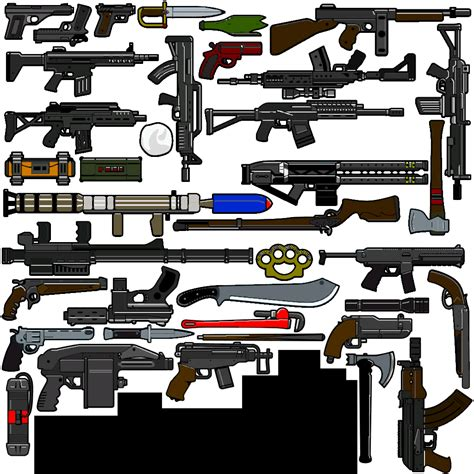 gta 5 all weapons coloured weapon icons gta5 mods com