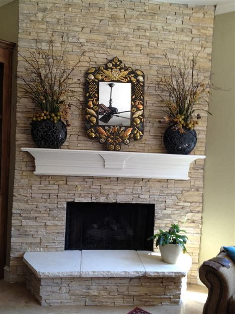 Faux Fieldstone Fireplace by Faux Fireplace
